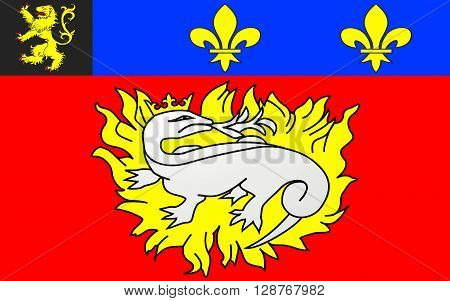 Flag of Le Havre is an urban French commune and city in the Seine-Maritime department in the Normandy region of north-western France