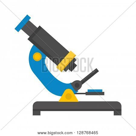 Microscope isolated vector illustration.
