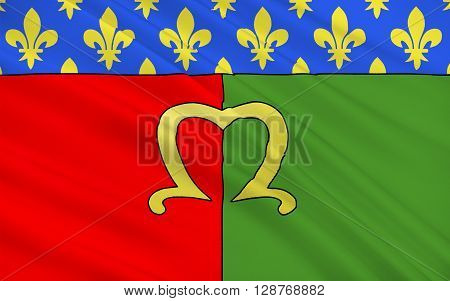Flag of Meaux is a commune in the Seine-et-Marne department in the Ile-de-France region in the metropolitan area of Paris France