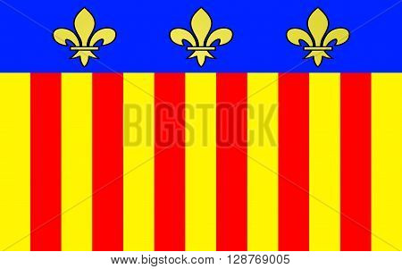 Flag of Millau is a commune in the Aveyron department in the French Midi-Pyrenees region in southern France