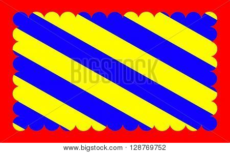 Flag of Nievre is a department in the region of Burgundy in the centre of France named after the River Nievre.