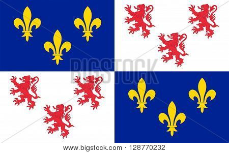 Flag of Picardy is a historical territory and a former administrative region of France. Since 1 January 2016 it is part of the new region Nord-Pas-de-Calais-Picardie. It is located in the northern part of France.