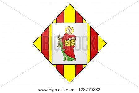 Flag of Prades is a commune and a sub-prefecture of the Pyrenees-Orientales department in southern France. It is the capital of the historical Conflent comarca.