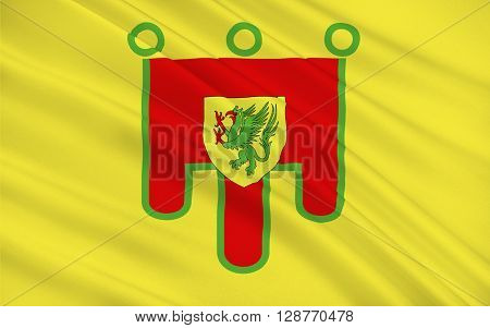Flag of Puy-de-Dome is a department in the centre of France named after the famous dormant volcano the Puy de Dome