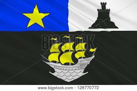 Flag of Rochefort is a commune in southwestern France a port on the Charente estuary. It is a sub-prefecture of the Charente-Maritime department.