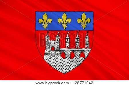 Flag of Saintes is a commune and historic town in southwestern France in the Charente-Maritime department of which it is a sub-prefecture in Aquitaine-Limousin-Poitou-Charentes.