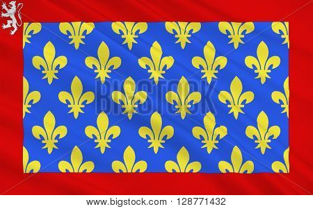 Flag of Sarthe is a French department situated in the Grand-Ouest of the country. It is named after the River Sarthe which flows from east of Le Mans to just north of Angers