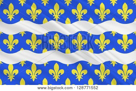 Flag of Seine-et-Marne is a French department named after the Seine and Marne rivers and located in the Ile-de-France region