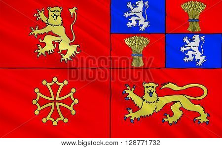 Flag of Tarn-et-Garonne is a department in the southwest of France. It is traversed by the Rivers Tarn and Garonne.