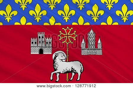Flag of Toulouse is the capital city of the southwestern French department of Haute-Garonne as well as of the Midi-Pyrenees region.