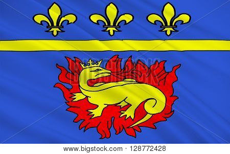 Flag of Vitry-le-Francois is a commune in the Marne department in north-eastern France. It is located on the Marne River and is the western terminus of the Marne-Rhine Canal.