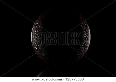 3d rendering of low key basketball with side lights