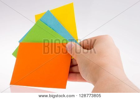 Colorful of paper on a white background