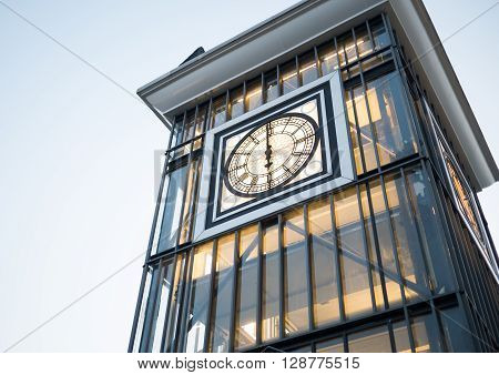 Classic of clock tower at 6.00 PM