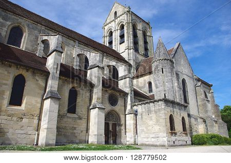 Church in Auvers Sur Oise, in France