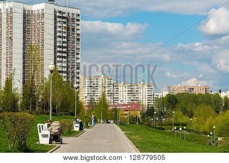 Moscow, Russia - May 06.2016. 16 districts of a Zelenograd Administrative District