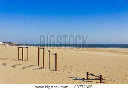 Matosinhos Beach In City Of Porto, Portugal