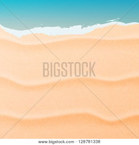 Summer background with beach sand and sea. Sand and sea vector illustration.