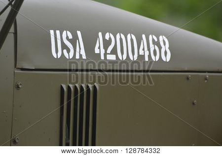 American historical military transport.At May 7,2016 in Kiev, Ukraine