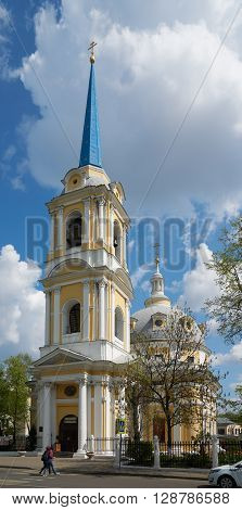 Moscow Russia - May 06 2016: Voznesenskaya (Ascension) Church on Kazakova street in Moscow