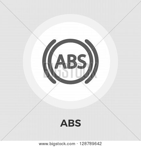 ABS  icon vector. Flat icon isolated on the white background. Editable EPS file. Vector illustration.