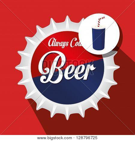 drink lid design, vector illustration eps10 graphic