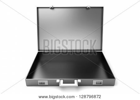 An open Briefcase. A 3D rendered illustration.