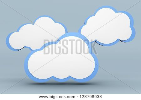 A Cloud computing. A 3D rendered illustration.