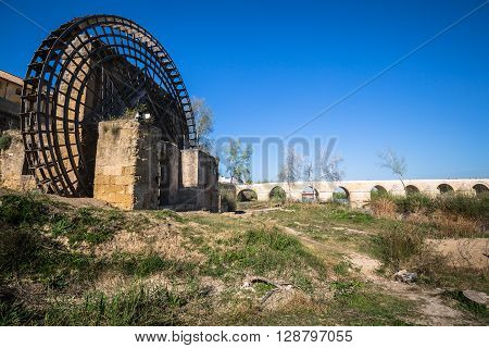 Old windmill in Cordoba Spain Europe .