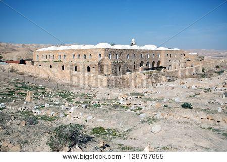 Nabi Musa site in the Judean desert Israel