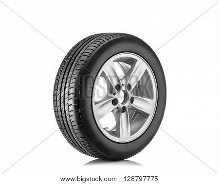 new tyre isolated on the white background