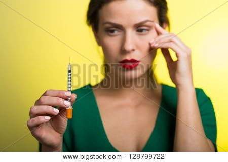 Woman With A Skin Care Injection