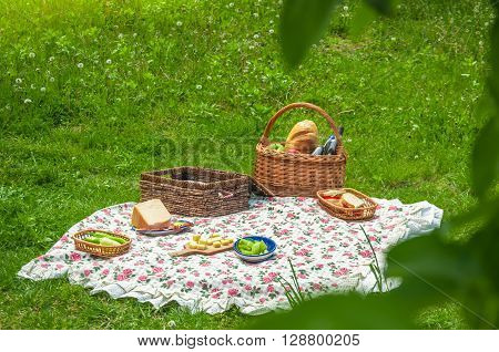 Picnic in the park, idea for outdoor activities.
