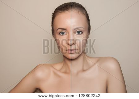 beaking senility - revitalising young woman face