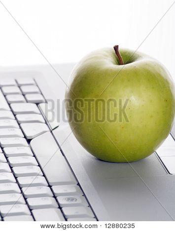 apple on keyboard