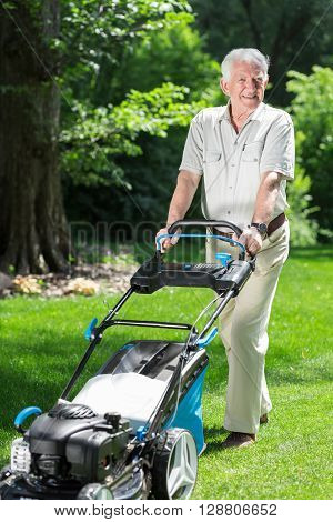 Man With A Lawn Mower