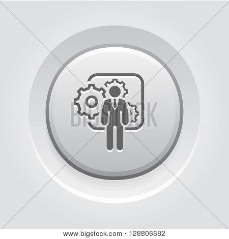 Integration Management   Icon. Business Concept. Grey Button Design