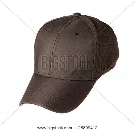baseball cap isolated on white background .