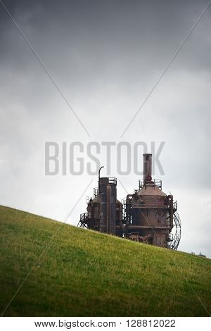 SEATTLE, WA - AUG 14: Gas Work Park on August 14, 2015 in Seattle. Seattle is the largest city in both the State of Washington and the Pacific Northwest region of North America