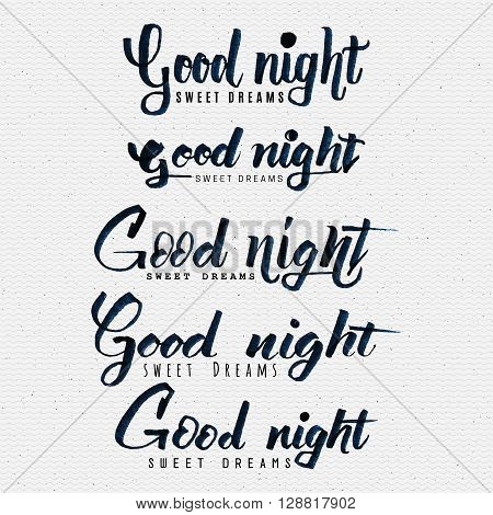 Good night sweet dreams hand lettering You can use postcards