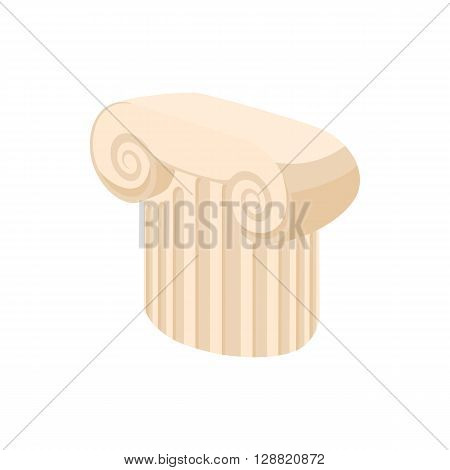 Marble column icon in cartoon style on a white background