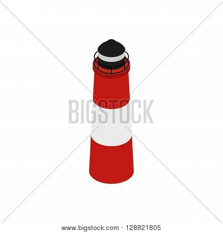 Lighthouse in the Beagle Channel, Tierra del Fuego, southern Argentina icon in isometric 3d style on a white background
