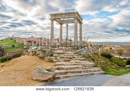 Monument Four Posts (Los Cuatro Postes) in Avila - Spain