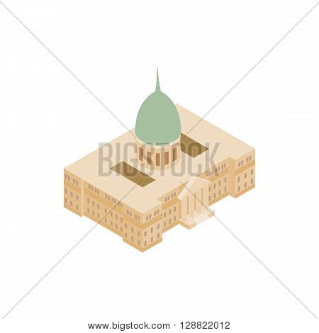 Argentine National Congress Palace icon in isometric 3d style on a white background