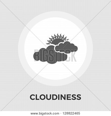 Cloudiness icon vector. Flat icon isolated on the white background. Editable EPS file. Vector illustration.