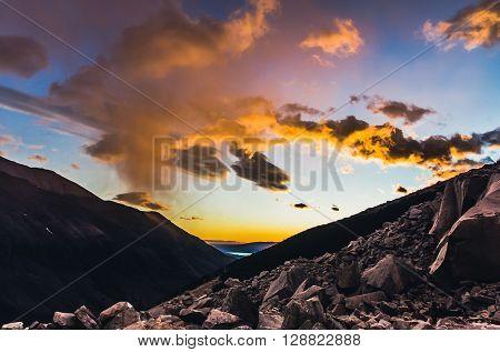 Las Torres mirador at sunrise, Torres del Paine National Park, Chile