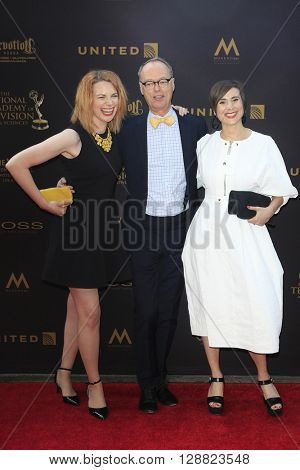 LOS ANGELES - APR 29: Stephanie Stender, Christopher Kimball, Melissa Baldino at The 43rd Daytime Creative Arts Emmy Awards Gala at the Westin Bonaventure Hotel on April 29, 2016 in Los Angeles, CA