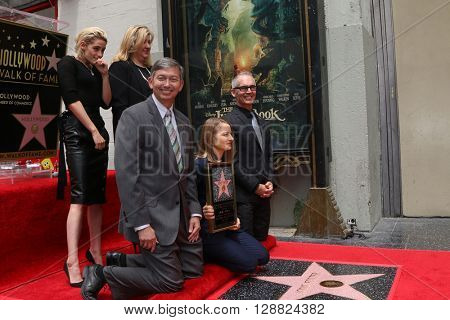 LOS ANGELES - MAY 4:  Kristen Stewart, Jodie Foster, Chamber officials at the Jodie Foster Hollywood Walk of Fame Star Ceremony at the TCL Chinese Theater IMAX on May 4, 2016 in Los Angeles, CA