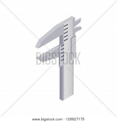 Calipers icon in isometric 3d style on a white background