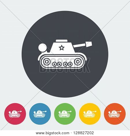 Tank toy icon. Flat vector related icon for web and mobile applications. It can be used as - logo, pictogram, icon, infographic element. Vector Illustration.